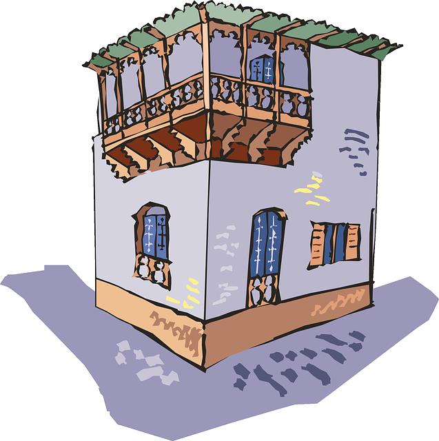 Piani della casa su due livelli con un appartamento