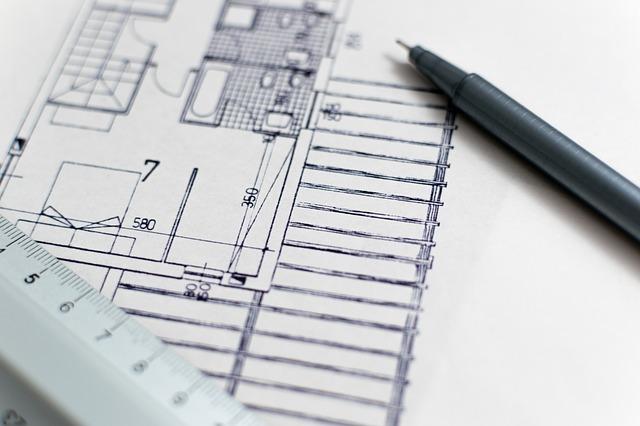 Lasciare l'architetto fuori con i piani di Country Hous